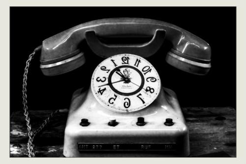 Antique Clock Phone