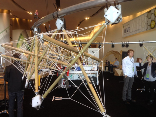 Autodesk Research Hive Bamboo Tensegrity Unit