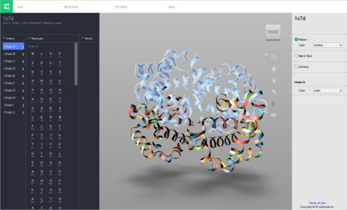 Autodesk Research Molecule Viewer Hemoglobin