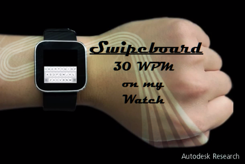 Autodesk Research Swipeboard Smart Watch Text Entry