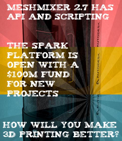 Autodesk Meshmixer API Spark 3D Printing Investment Fund