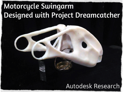 Autodesk Research Project Dreamcatcher Motorcycle Swingarm