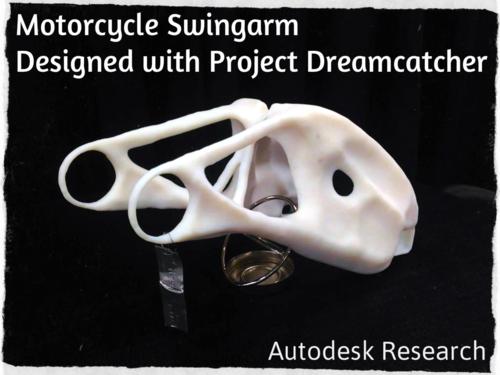 Autodesk Research Project Dreamcatcher Motorcycle Swingarm